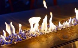 Голубой язык гореть пламен огня Стоковые Фотографии RF