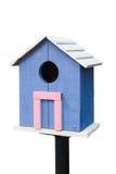 Голубой birdhouse Стоковые Изображения RF