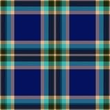 Голубой checkered носовой платок Стоковое Фото
