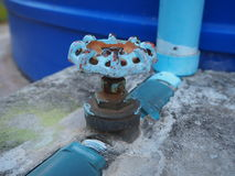 Голубой faucet Стоковое Изображение