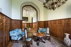 Голубой Hall в замке Lednice Стоковая Фотография RF