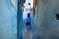 Голубой medina города Chefchaouen в Марокко, Африке Стоковая Фотография RF