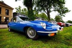 Голубой oldtimer ягуара Стоковое Изображение RF