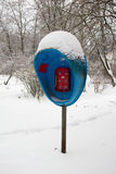голубой payphone Стоковое Фото