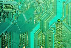 голубой pcb ПК материнской платы компьютера доски Стоковое Фото