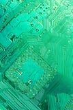 голубой pcb ПК материнской платы компьютера доски Стоковые Изображения RF