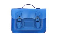 голубой satchel Стоковые Фото