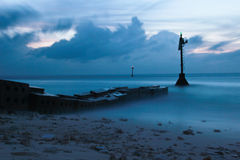 голубой seascape Стоковое Изображение