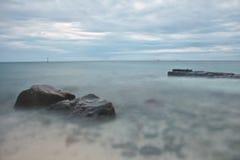 голубой seascape Стоковая Фотография RF