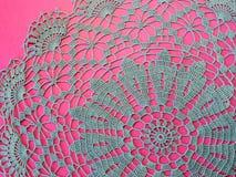 Голубой serviette вязания крючком Стоковые Фотографии RF