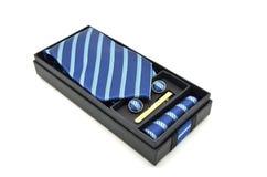 голубой striped галстук Стоковое Изображение