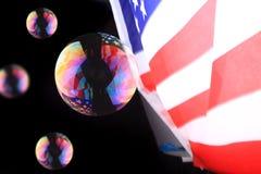 голубой tonality структуры мыла пузырей Стоковые Фото