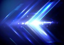 Голубые абстрактные стрелки подписывают предпосылку концепции цифровой технологии Стоковое Изображение RF