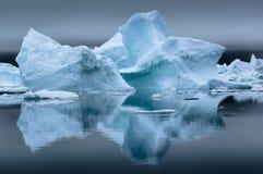 Голубые айсберги в Гренландии Стоковые Фотографии RF