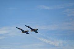 Голубые ангелы замедляют вход Стоковое Фото