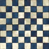 Голубые белые плитки безшовные Стоковое Фото
