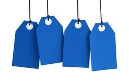 Голубые бирки Стоковое Изображение RF