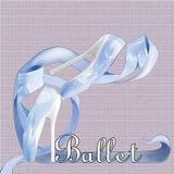 Голубые ботинки балета Стоковое фото RF