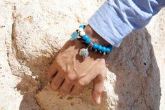 голубые браслеты шарика Стоковое Изображение RF