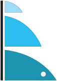 Голубые брезенты Стоковое фото RF