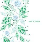 Голубые вектора абстрактные и зеленые листья вертикальные Стоковое Изображение RF