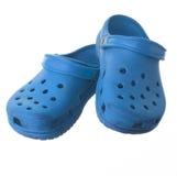 Голубые вскользь изолированные ботинки Стоковое фото RF