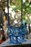 Голубые выпивая стекла Стоковое Фото