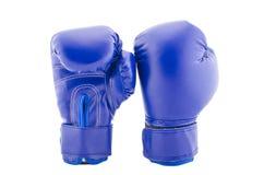 Голубые глобусы бокса на белой предпосылке Стоковая Фотография
