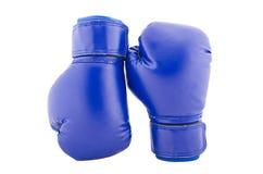 Голубые глобусы бокса на белой предпосылке Стоковые Фотографии RF