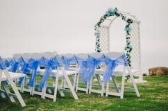 Голубые детали свадьбы Стоковое Изображение RF