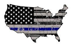 Голубые жизни имеют значение - стойте с нашей полицией Стоковая Фотография