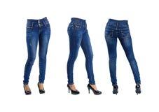 Голубые джинсы женщины Стоковые Изображения RF