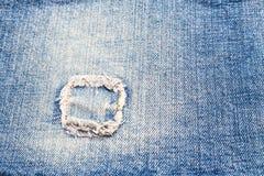 Голубые джинсы заплаты Стоковое Фото