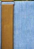 Голубые джинсы текстуры Стоковое Изображение RF