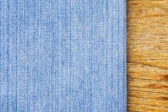 Голубые джинсы текстуры Стоковые Изображения