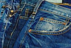 Голубые джинсы. Стоковое Изображение