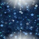 Голубые звезды рождества Стоковые Фотографии RF