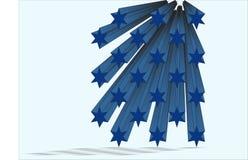 голубые звезды Стоковое Изображение