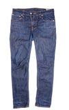 голубые изолированные джинсыы Стоковое Изображение