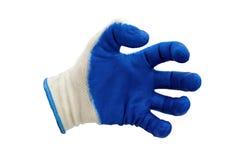 Голубые изолированные перчатки работы Стоковое Изображение