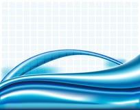 Голубые линии предпосылка конспекта волнистая Стоковая Фотография RF