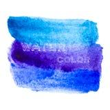 Голубые линии щетки Абстрактная стильная предпосылка акварели Стоковое фото RF