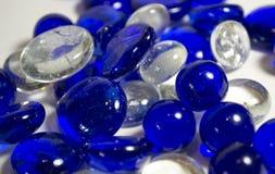 Голубые и белые стеклянные утесы Стоковая Фотография RF