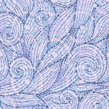 Голубые и розовые ультрамодные цвета поставили точки картина курчавых волн безшовная иллюстрация вектора