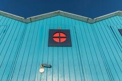 Голубые кабины пляжа Стоковое фото RF