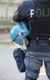 Голубые каски полицейския во время управления o анти--терроризма Стоковое Изображение
