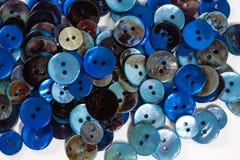 Голубые кнопки Стоковые Изображения