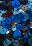 Голубые кнопки Стоковое Изображение RF