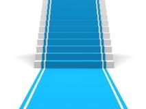 Голубые ковер и лестницы иллюстрация штока