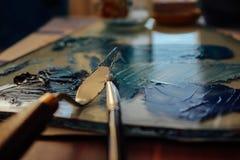 голубые краски стоковые изображения
